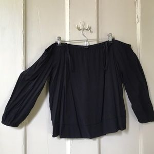 Old Navy off the shoulder black top size large